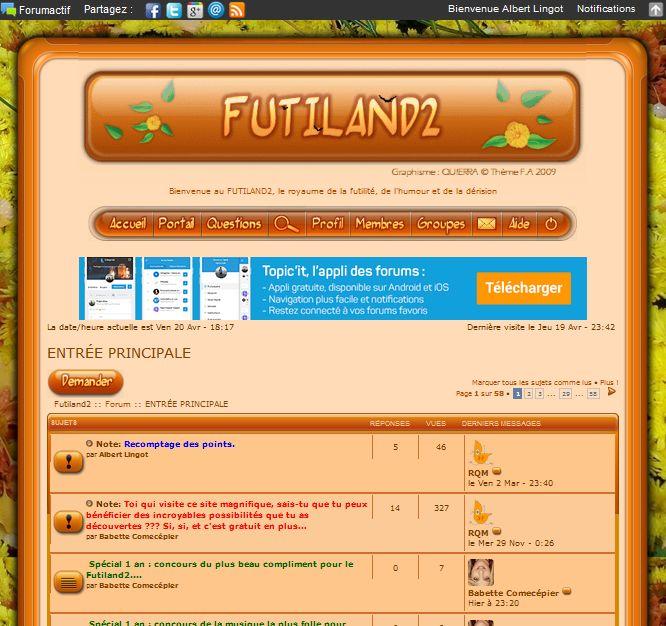 Spécial 1 an : concours du plus beau compliment pour le Futiland2.... Fut2a10