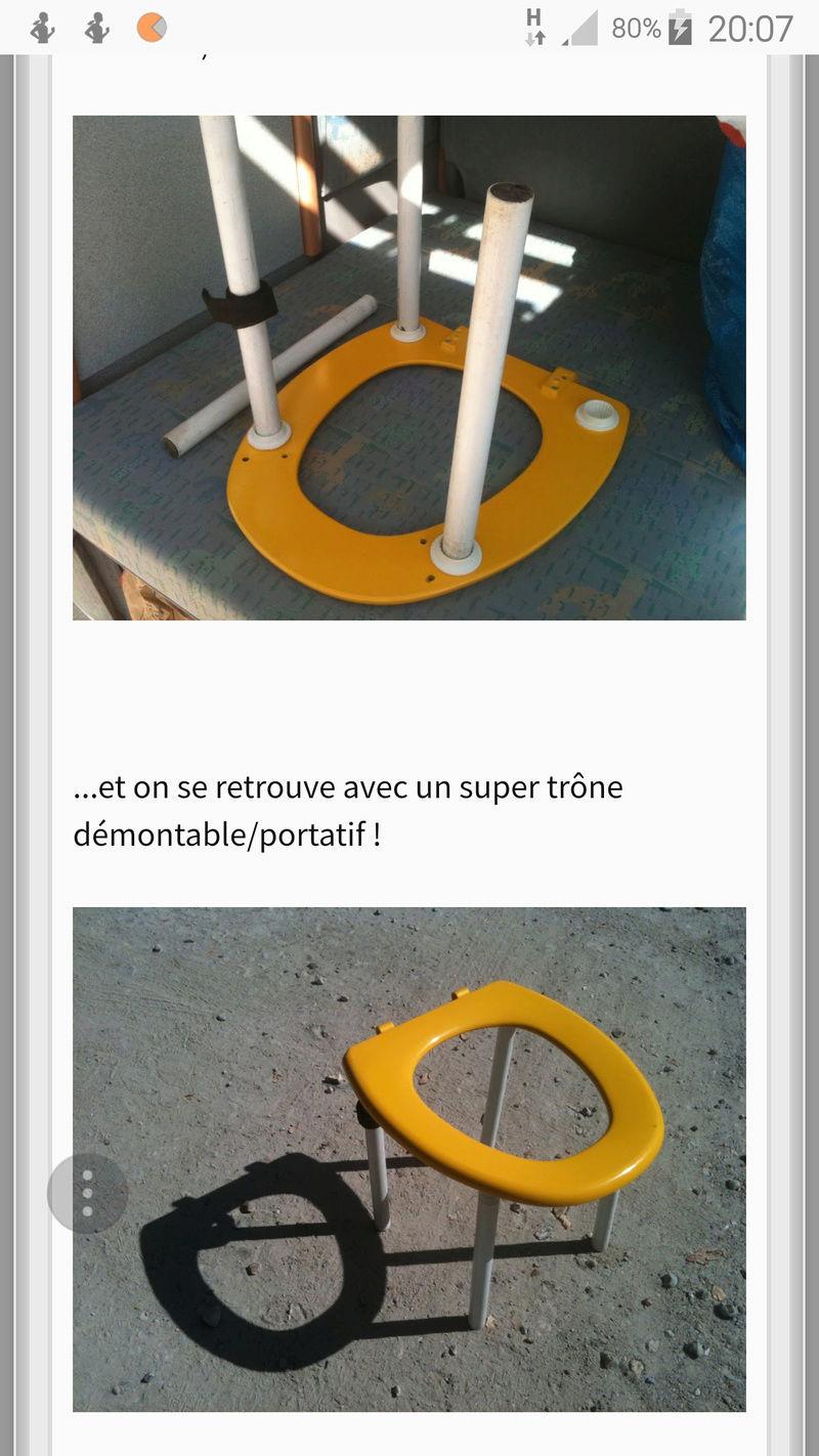 A vendre WC pliable et Porta Potti Qube Screen11