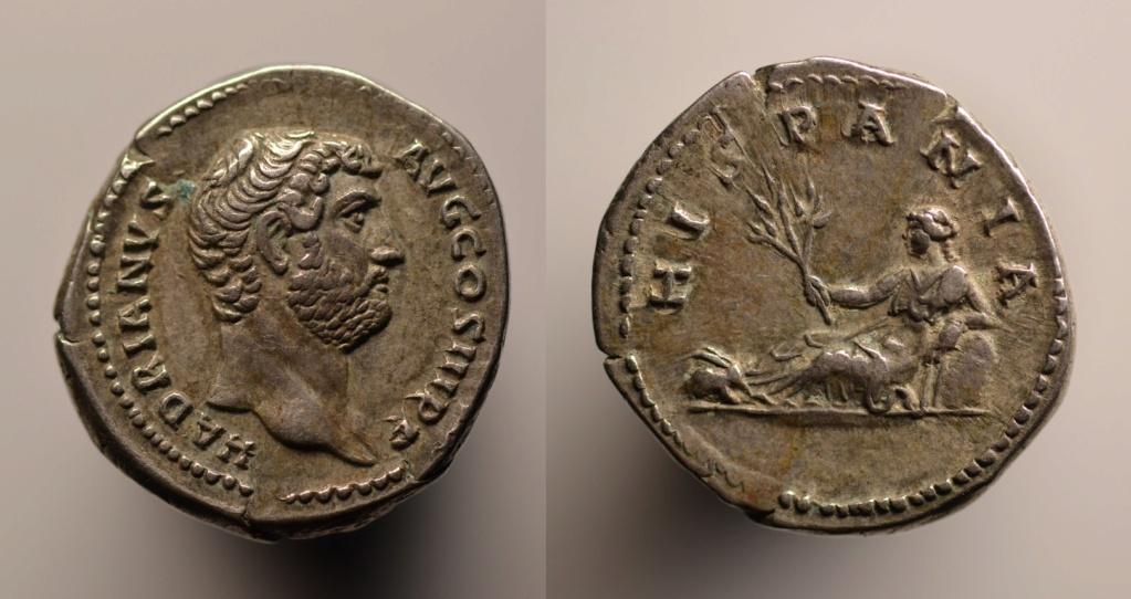 Denario de Adriano. HISPANIA. Hispania recostada a izq. (conejo en los pies). Roma.  32_adr11