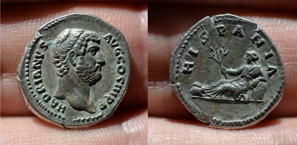Denario de Adriano. HISPANIA. Hispania recostada a izq. (conejo en los pies). Roma.  32_adr12