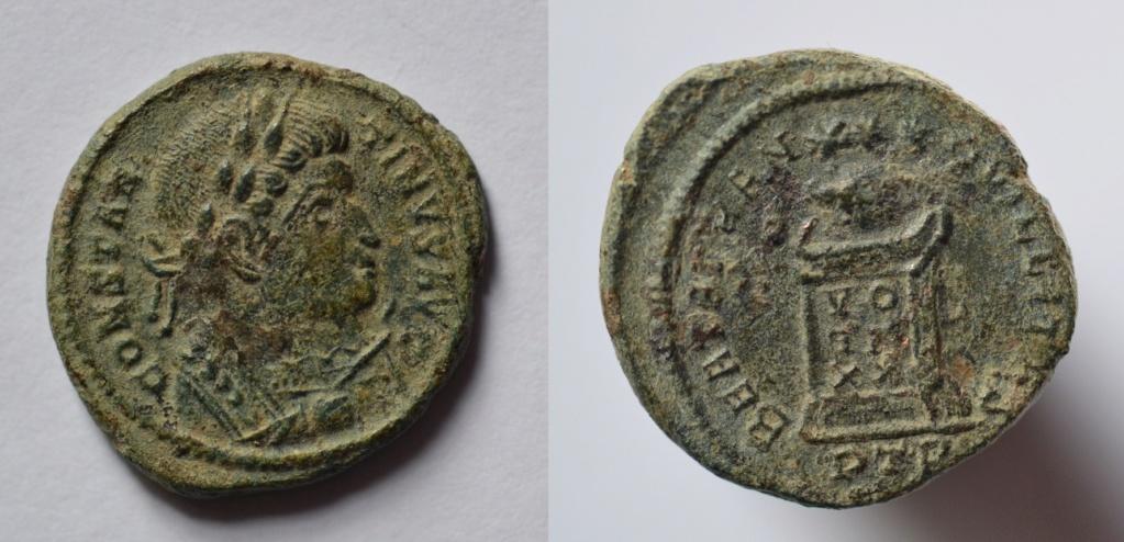 AE3 de Constantino I. BEATA TRANQVILLITAS. Trier Consta10