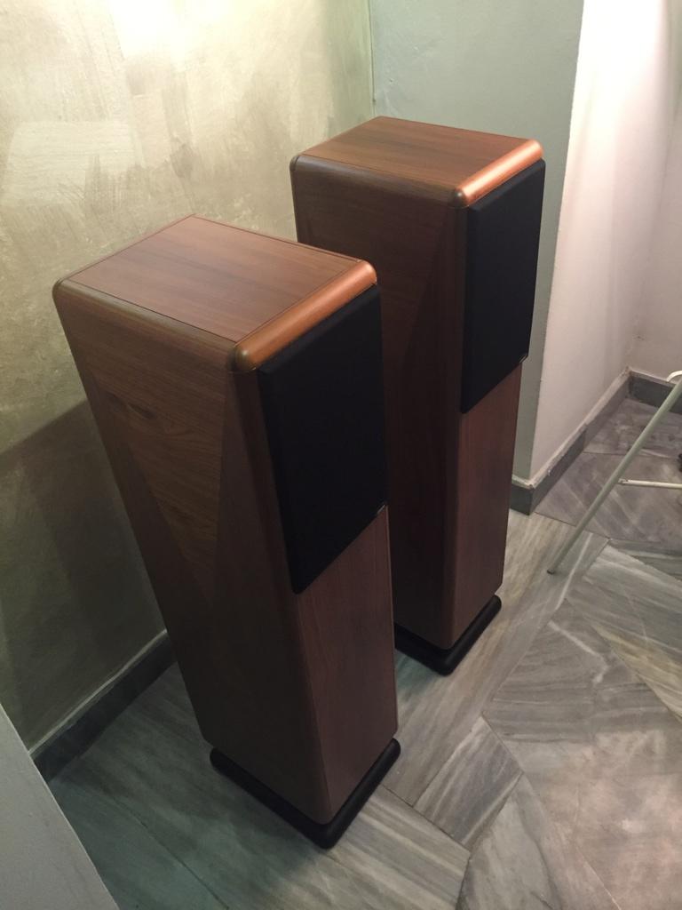 Chario Syntar 530R Speakers (Walnut Finishing) with original box  Image411