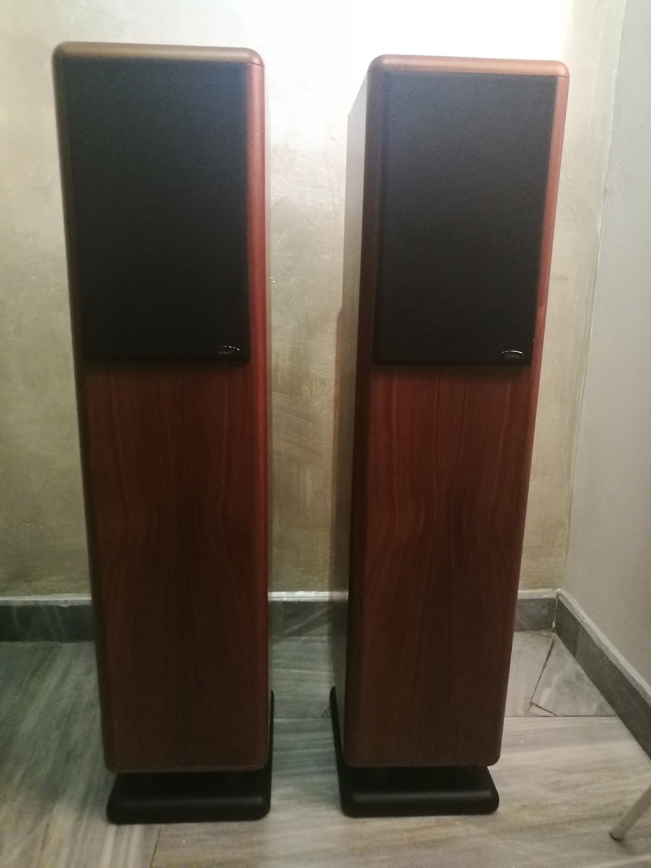 Chario Syntar 530R Speakers (Walnut Finishing) with original box  Img_2023