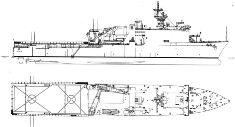 USS Tortuga - LSD 46 1/700 ORANGE HOBBY   10124410