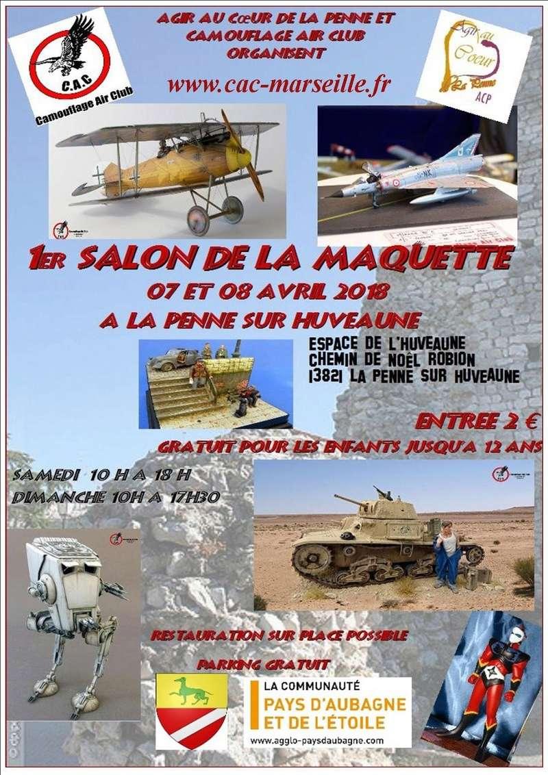 Exposition maquettes La Penne sur Huveaune (13) 07 / 08 avril 2018 Affich10