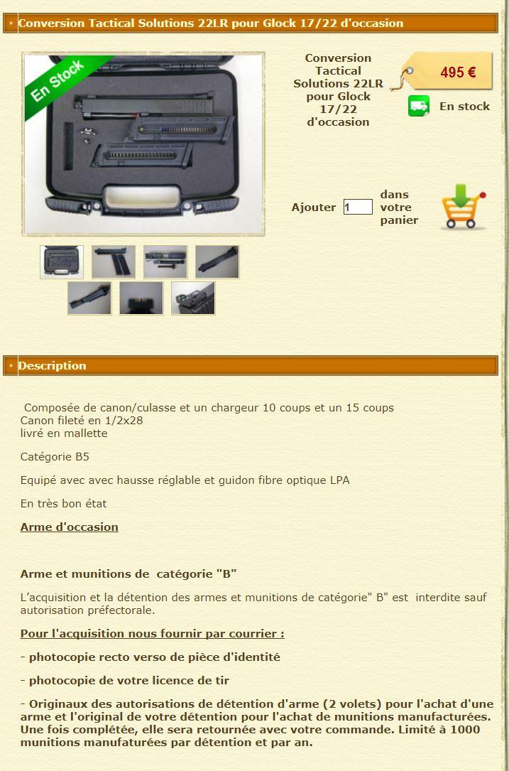Conversion 22LR pour Glock Conver11