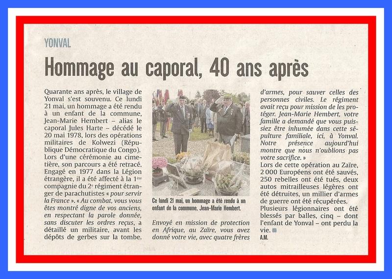 hommage a YONVAL pour le 40ème anniversaire de Kolwési 33130910