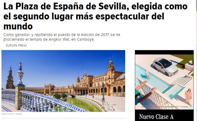 La Plaza de España de Sevilla elegida como el segundo lugar más espectacular del mundo Sin_t155