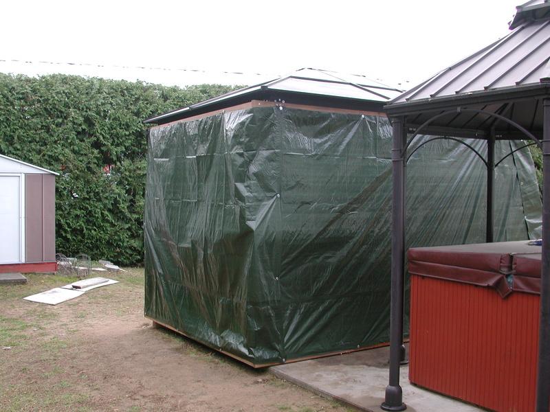abris - Abris d'été adapté pour l'hiver. Dscn7912