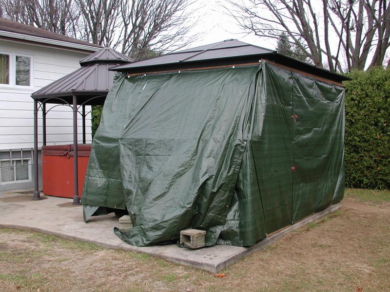 abris - Abris d'été adapté pour l'hiver. Dscn7914