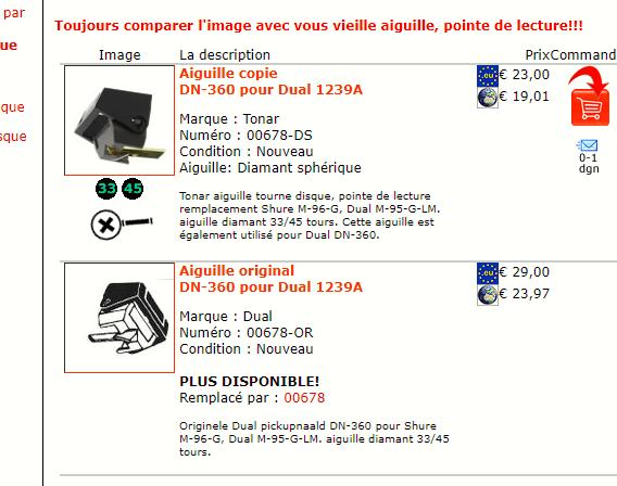 diamant pour DUAL DM 95 G /shure n75 g Pickup11