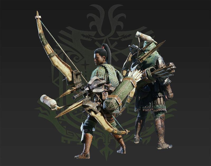 Présentation des armes de monster hunter world Arc11