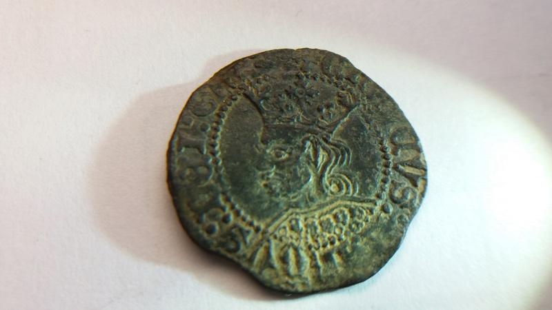 Dinero de Enrique IV. Emisión 1461. Coruña 20171218