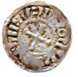 Denier carolingien de Strasbourg pour Louis IV l'Enfant, roi de Germanie Louis_13