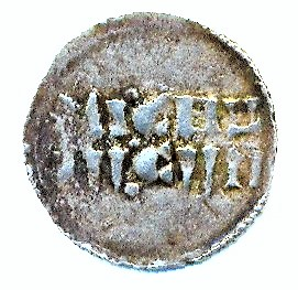 Denier carolingien de Strasbourg pour Louis IV l'Enfant, roi de Germanie Louis_14