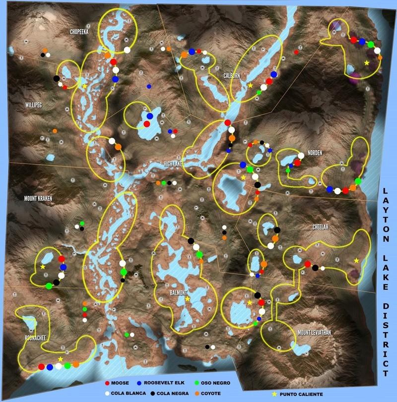 Mapas de ubicación de animales  TheHunter  Call of the Wild Reserv14