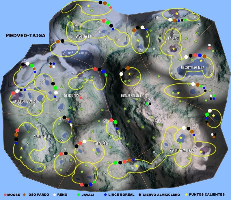 Mapas de ubicación de animales  TheHunter  Call of the Wild Reserv15