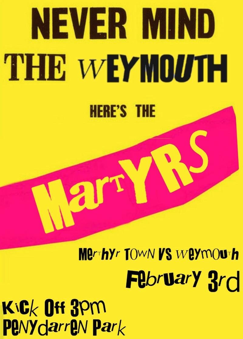 Weymouth match poster Weymou10