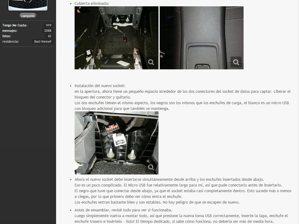 [Brico Astra K] Sustituir USB del cajón de apoyabrazos por hub integrado. 410