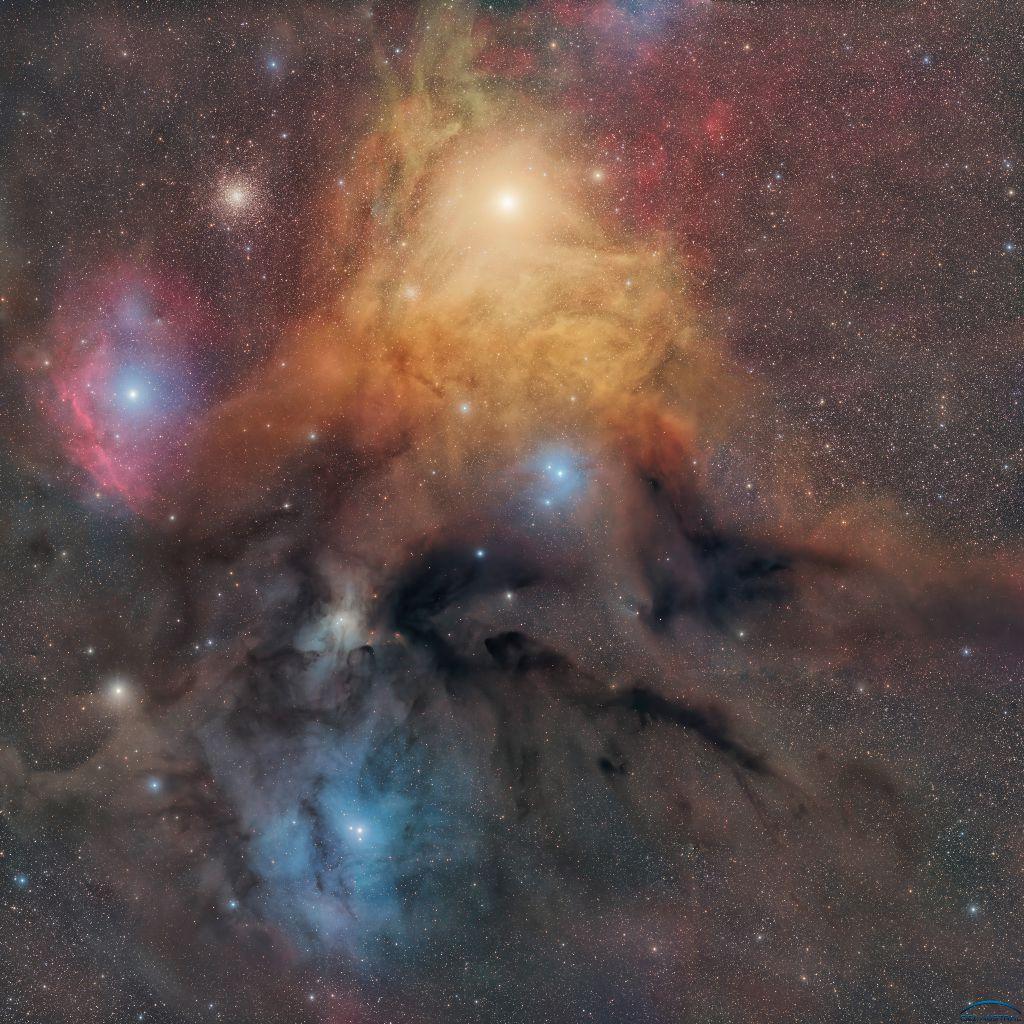 [Ciel Austral] Mosaique de Rho Ophiuchi depuis le Chili à la TEC160 en 67h Photo711