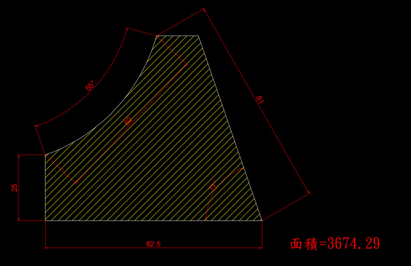 AutoCAD教學 幾何圖形習題04 04-a3610