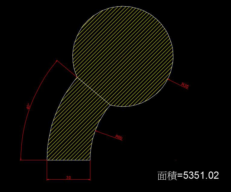 AutoCAD教學 幾何圖形習題08 810