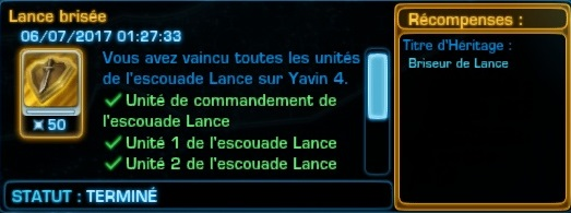 Succès #8 : Lance Brisée Scree129