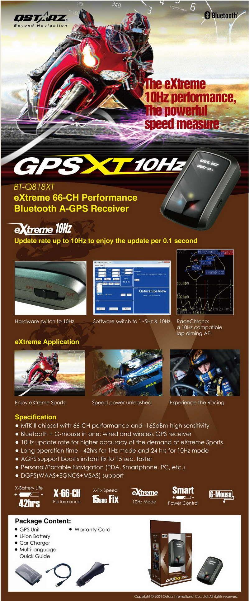 Récepteur GPS pour RaceChrono Q818xt10