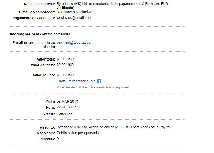 (Provado) Grande oportunidade de ganhar $$ Paypal com a app Hypstar. Min 1$ Sem_ty10