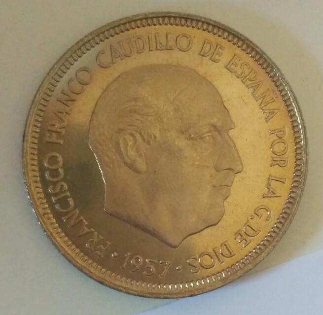 5 Pesetas 1957 (*72). Estado Español. Proof. Pátina Curiosa Img_2013