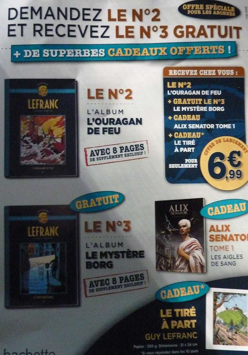 Collection Lefranc chez Hachette 0210