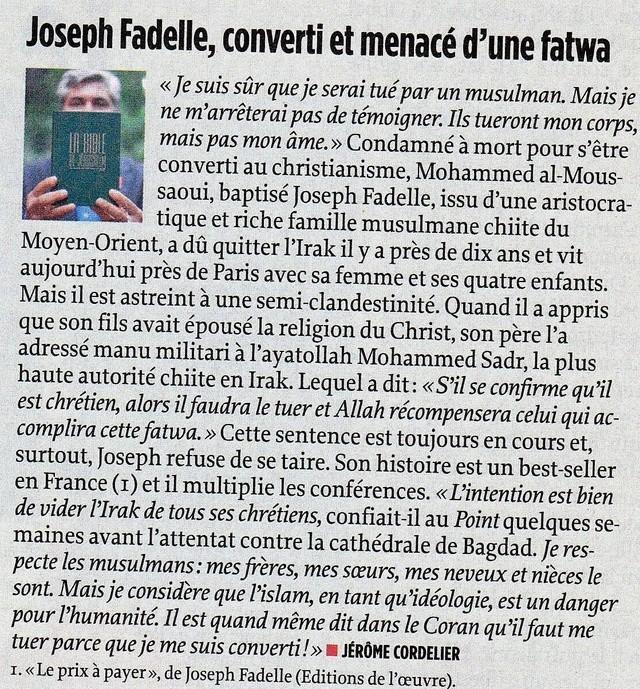Conversion au christianisme d'un descendant de mahomet  - Page 2 Musulm10