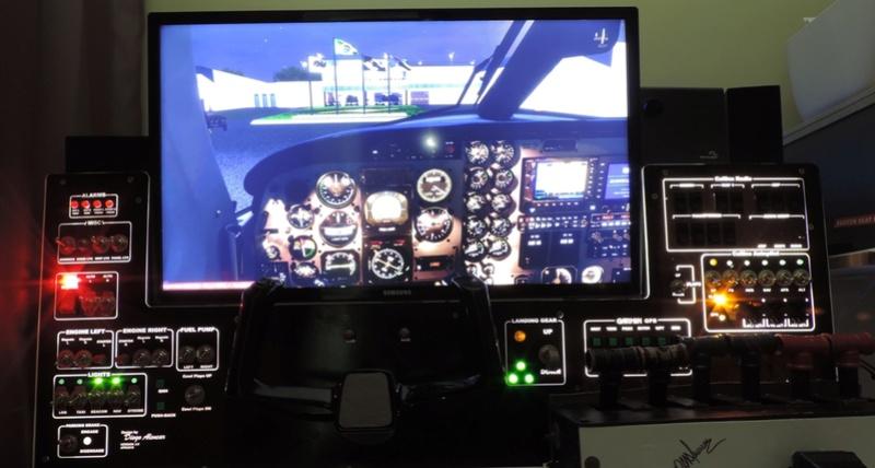 Cockpit genérico para bimotores Dscn6811