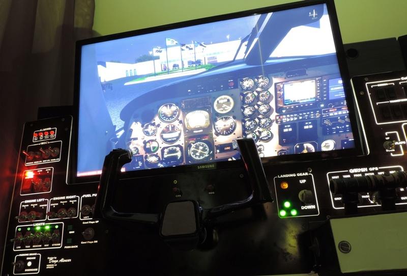 Cockpit genérico para bimotores Dscn6813