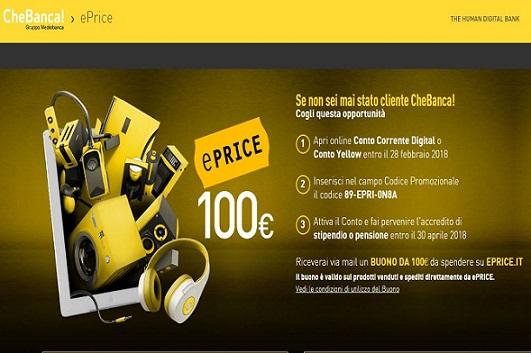 CHEBANCA! regala BUONO EPRICE 100 € [scaduta il 28/02/2018] Cattur19