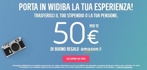 WIDIBA regala BUONO AMAZON € 50 se accrediti lo stipendio o la pensione [promozione scaduta il 31/01/2019] Cattur27