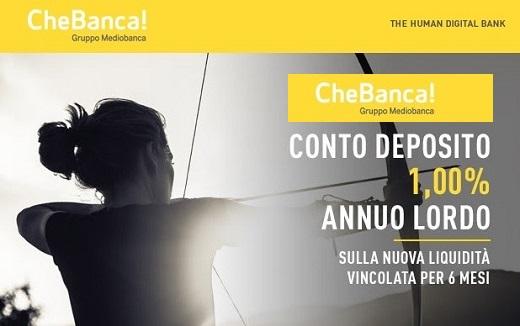 CHEBANCA! promo vincoli 1% a 6 mesi [promozione scaduta il 31/07/2018] Cb10h110