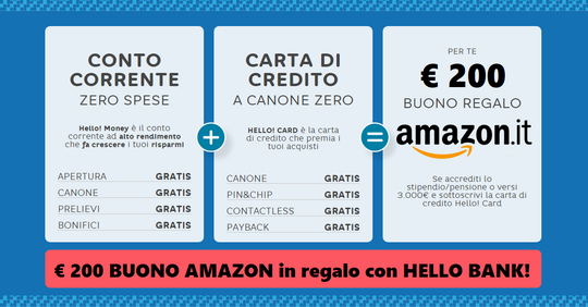 HELLO BANK regala BUONO AMAZON € 200 con codice presentatore III EDIZIONE [promozione scaduta il il 30/04/2019] - Pagina 4 Hello_18