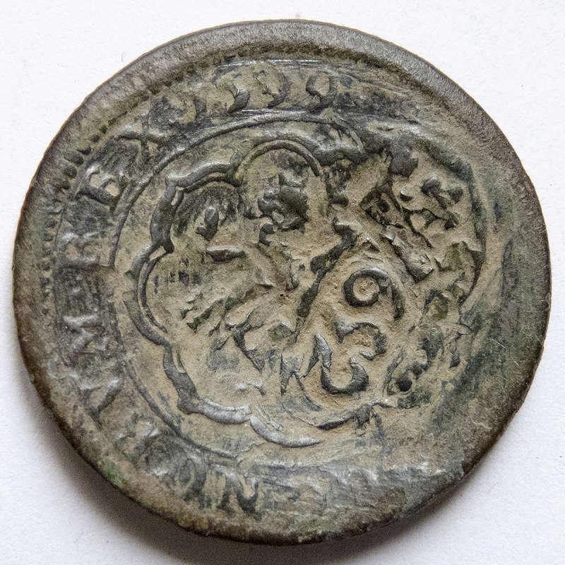 4 maravedis 1599 Segovia, Felipe III. Triple resello: VIII 1603, XII 1636, 8 1652 P1030511
