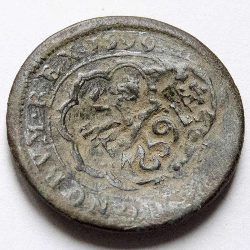 4 maravedis 1599 Segovia, Felipe III. Triple resello: VIII 1603, XII 1636, 8 1652 P1030613