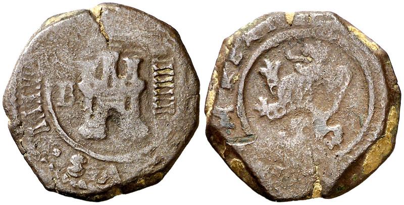 "4 Maravedís. Burgos. Felipe IV (1621-1626. (Cal. tipo 283) (J.S. F-3). Valor ""IIIIIIII"". BC+ 4_mara10"