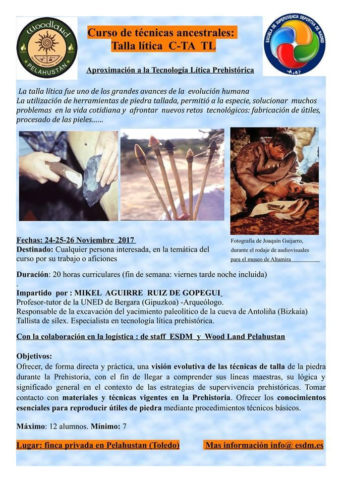 Curso Talla lítica Mikel Aguirre 22089810