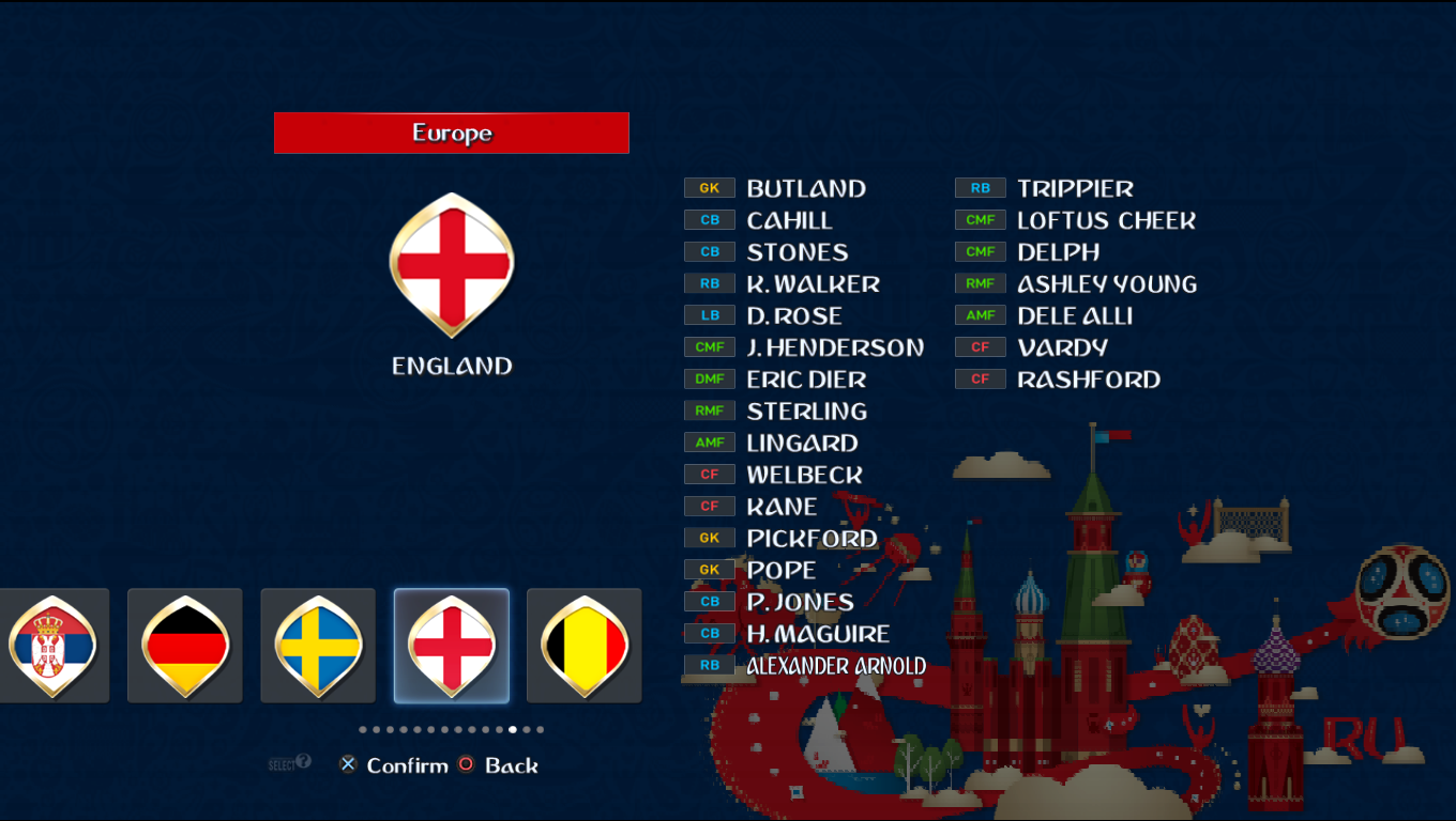 Patch Road To Russia 2018 (All National Teams) Pes20114
