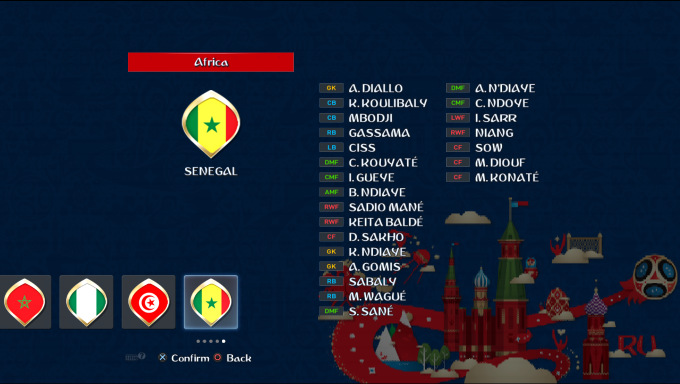 Patch Road To Russia 2018 (All National Teams) Pes20116