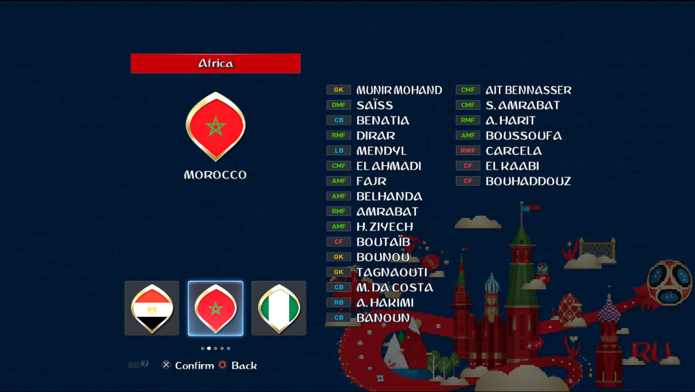 Patch Road To Russia 2018 (All National Teams) Pes20118