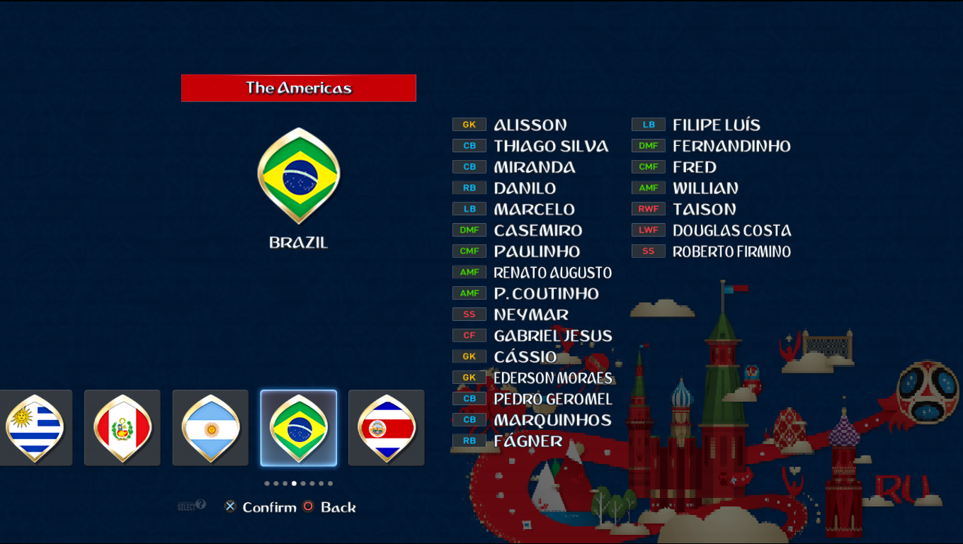 Patch Road To Russia 2018 (All National Teams) Pes20121