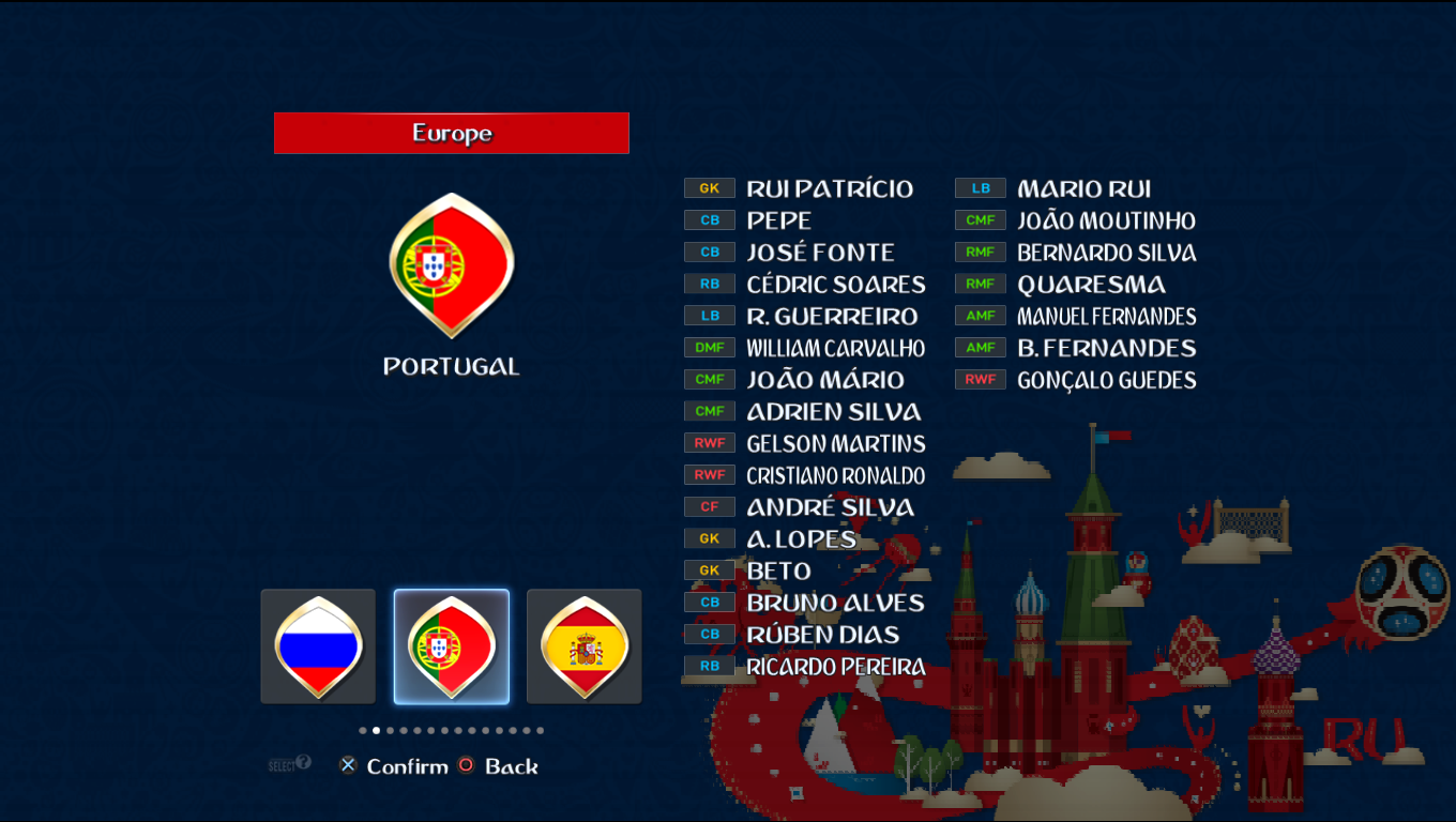 Patch Road To Russia 2018 (All National Teams) Pes20123