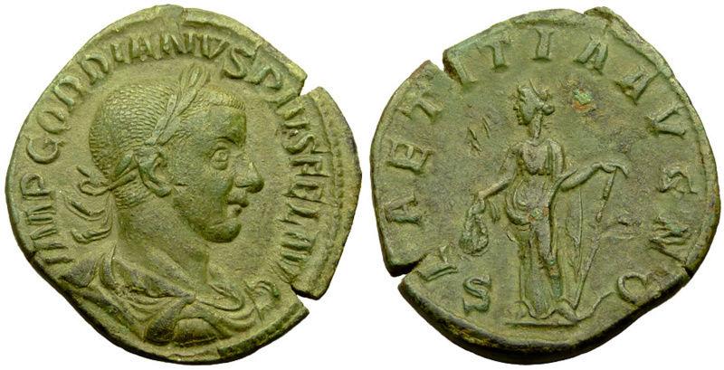 Sestercio de Gordiano III. LAETITIA AVG N /S C Untitl15
