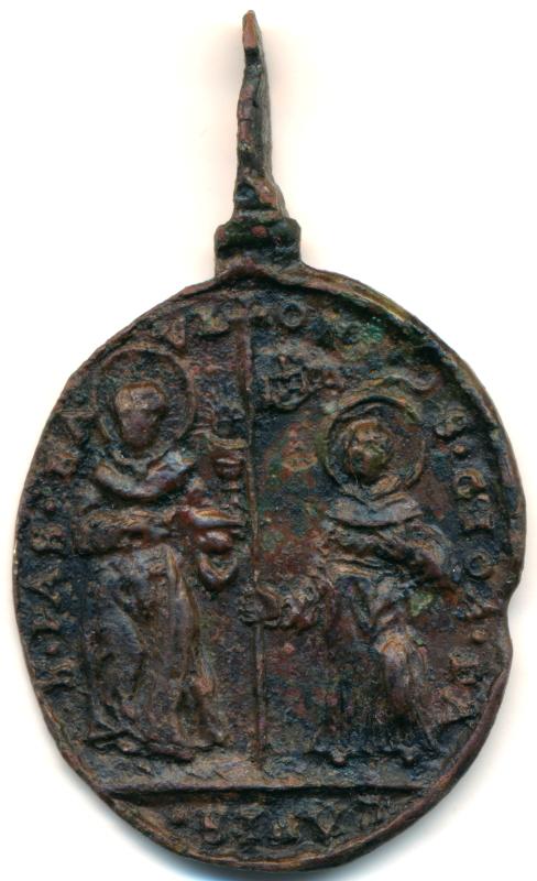 Canonización Cinco Santos 1690: S. Pascual Bailón, S. Juan de Sahagún, S. Juan de Capistrano, S. Lorenzo Justiniano y S. Juan de Dios, S. XVII. Sconos11