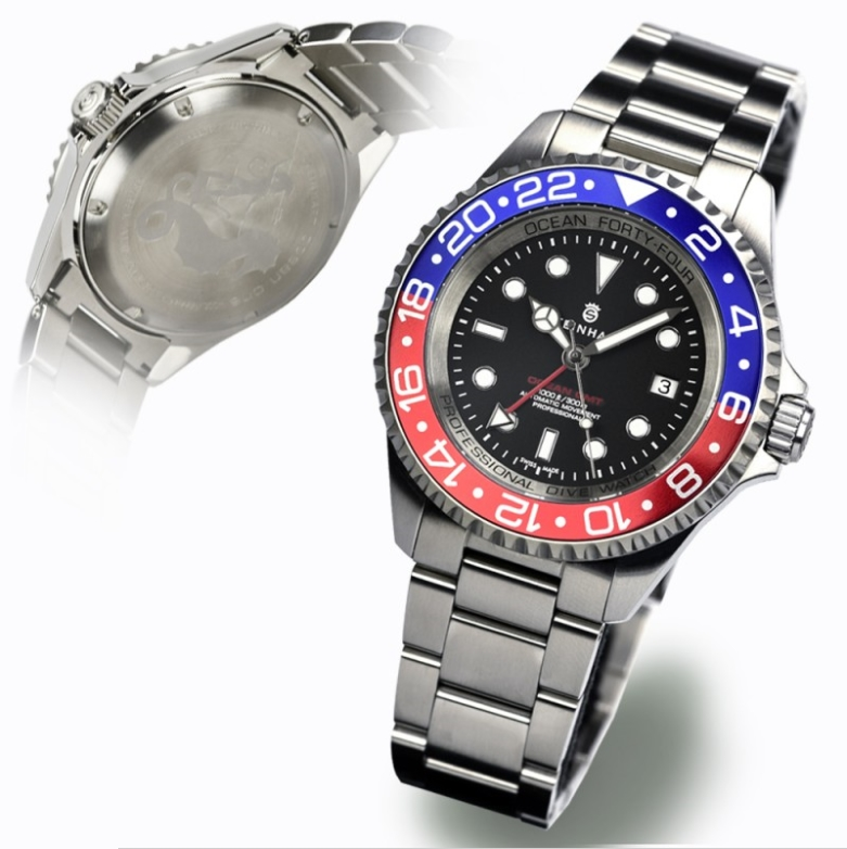 Ocean Forty-Four GMT Blue Red Sans_t35